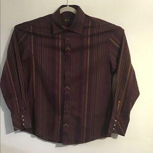 Ben Sherman purple striped button up shirt.Large